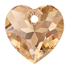 Swarovski 6432 Heart Cut Pendant 8mm Light Colorado Topaz