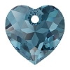 Swarovski 6432 Heart Cut Pendant 10.5mm Montana