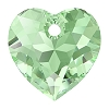 Swarovski 6432 Heart Cut Pendant 10.5mm Peridot