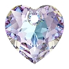 Swarovski 6432 Heart Cut Pendant 10.5mm Crystal Vitrail Light (Protective Layer)