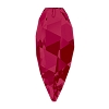 Swarovski 6540 Twisted Drop Pendant (half hole) 12mm Ruby (96 Pieces)