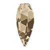 Swarovski 6540 Twisted Drop Pendant (half hole) 12mm Smoky Quartz (96 Pieces)