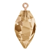 Swarovski 6541 Twisted Drop Pendant (half hole) with Bail 14.5mm Rose Gold/Crystal Golden Shadow (48 Pieces)