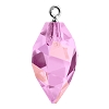 Swarovski 6541 Twisted Drop Pendant (half hole) with Bail 14.5mm Rhodium/Crystal Lilac Shadow (48 Pieces)