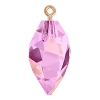 Swarovski 6541 Twisted Drop Pendant (half hole) with Bail 14.5mm Rose Gold/Crystal Lilac Shadow (48 Pieces)
