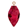 Swarovski 6541 Twisted Drop Pendant (half hole) with Bail 14.5mm Rose Gold/Ruby (48 Pieces)