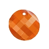 Swarovski 6621 Twist Pendant 18mm Crystal Red Magma