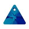 Swarovski 6628 Triangle Pendant 12mm Bermuda Blue (Protective Layer)