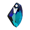 Swarovski 6656 Galactic Pendant 19mm Crystal Bermuda Blue (Protective Layer)