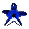 Swarovski 6721 Starfish Pendant 16mm Crystal Bermuda Blue (Protective Layer)
