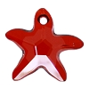 Swarovski 6721 Starfish Pendant 16mm Crystal Red Magma
