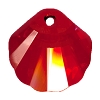 Swarovski 6723 Shell Pendant 28mm Crystal Red Magma