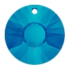 Swarovski 6724G Sun Pendant 19mm Crystal Bermuda Blue (Protective Layer) Partly Frosted