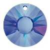 Swarovski 6724G Sun Pendant 19mm Crystal Heliotrope (Protective Layer) Partly Frosted