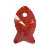 Swarovski 6727 Fish Pendant 18mm Crystal Red Magma