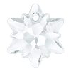 Swarovski 6748G Edelweiss Pendant 14mm Crystal Partly Frosted