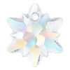 Swarovski 6748G Edelweiss Pendant 14mm Crystal AB Partly Frosted