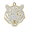 Swarovski 67511 Pave Tiger Pendant 22mm Gold/Crystal (6 Pieces)