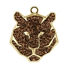 Swarovski 67511 Pave Tiger Pendant 16mm Gold/Smoked Topaz (6 Pieces)