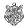 Swarovski 67511 Pave Tiger Pendant 16mm Gunmetal/Crystal (6 Pieces)