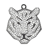Swarovski 67511 Pave Tiger Pendant 22mm Gunmetal/Crystal (6 Pieces)