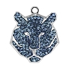 Swarovski 67511 Pave Tiger Pendant 16mm Rhodium/Montana (6 Pieces)