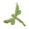 Swarovski 67523 Pave Dragonfly Pendant 30mm Gold/Peridot (3 Pieces)