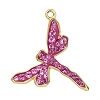 Swarovski 67523 Pave Dragonfly Pendant 18mm Gold/Rose (6 Pieces)