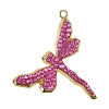 Swarovski 67523 Pave Dragonfly Pendant 30mm Gold/Rose (3 Pieces)