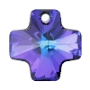 Swarovski 6866 Cross Pendant 20mm Crystal Heliotrope