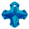 Swarovski 6867 Greek Cross Pendant 14mm Crystal Bermuda Blue (Protective Layer) (72 Pieces)