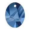Swarovski 6910 Kaputt Oval Pendant 26mm Crystal Metallic Blue