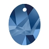 Swarovski 6911 Kaputt Oval Pendant 26mm Crystal Metallic Blue