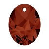 Swarovski 6911 Kaputt Oval Pendant 26mm Crystal Red Magma