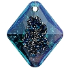 Swarovski 6926 Growing Crystal Rhombus Pendant 26mm Crystal Bermuda Blue (Protective Layer)