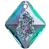Swarovski 6926 Growing Crystal Rhombus Pendant 26mm Crystal Vitrail Light (Protective Layer)