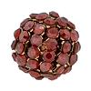 Swarovski Mesh Ball 40515 15mm Crystal Red Magma (2 Pieces) - CLEARANCE