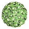 Swarovski 86301 Half Hole Pave Ball 10mm Peridot (12 Pieces)