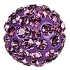 Swarovski 86001 Pave Ball 4mm Amethyst (2 Pieces)