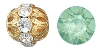 Swarovski Rhinestone Filigree Beads 9755 10mm Gold/Green Opal (144 Pieces) - CLEARANCE