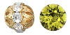 Swarovski Rhinestone Filigree Beads 9755 6mm Gold/Lime (144 Pieces) - CLEARANCE