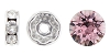 Swarovski #9843 Rhinestone Rondelle 6mm Silver/Light Rose (144 Pieces)