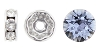 Swarovski #9843 Rhinestone Rondelle 7mm Silver/Light Sapphire (144 Pieces)