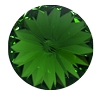 Swarovski 1122 Rivoli 14mm Dark Moss Green