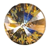 Swarovski 1122 Rivoli 12mm Crystal Golden Shadow