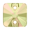 Swarovski 3201 Rivoli Square Sew-On 14mm Crystal Luminous Green (72 Pieces)