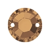 Swarovski 3204 Xilion Sew-On 12mm Crystal Bronze Shade (72 Pieces)