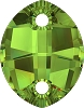 Swarovski 3224 Pure Leaf Sew-On 23x18mm Peridot Unfoiled (30 Pieces)