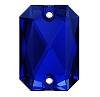 Swarovski 3252 Emerald Cut Sew-On 14x10mm Majestic Blue (36 Pieces)
