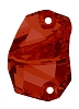 Swarovski 3257 Divine Rock Sew-On 19x13mm Crystal Red Magma (24 Pieces)